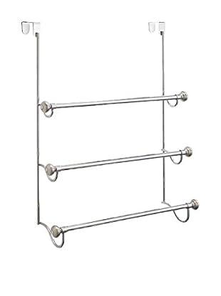 InterDesign York Metal Door 3-Towel Rack