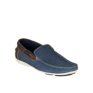 United Colors Of Benetton Men's Navy Blue Moccasins