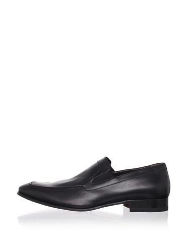a.testoni BASIC Men's Apron-Toe Loafer (Nero)