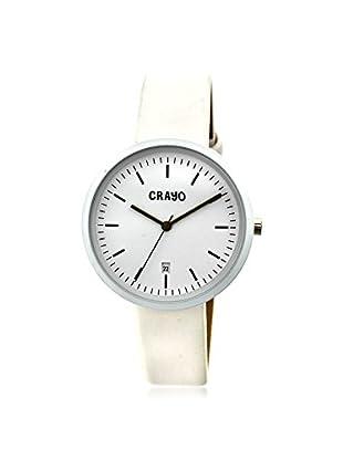 Crayo Women's CRACR2401 Easy White Leather Watch