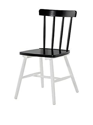 Stuhl 2er Set Kaos H10 schwarz/weiß