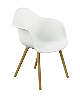 LO+DEMODA Stuhl 2er Set Dimero Simple Legs Blanco