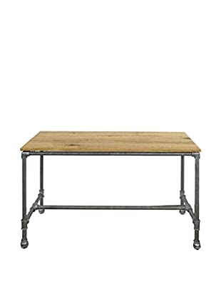 Three Hands Metal & Wood Table, Natural