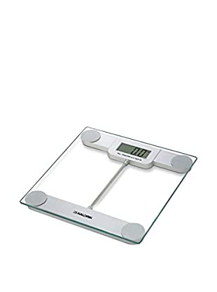 Kalorik Precision Digital Bathroom Scale, Glass and Silver, 11X0.9X11