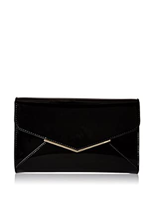Furla Women's Cherie S Envelope Pochette Patent Leather, Onyx