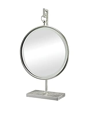 Artistic Silver Leaf Table Mirror with Stand