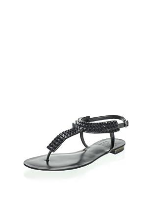 Schutz Women's Studded Thong Sandal (Black)