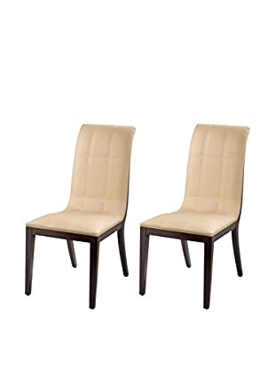 International Design Windcrest Set of 2 Dining Chairs, Cream
