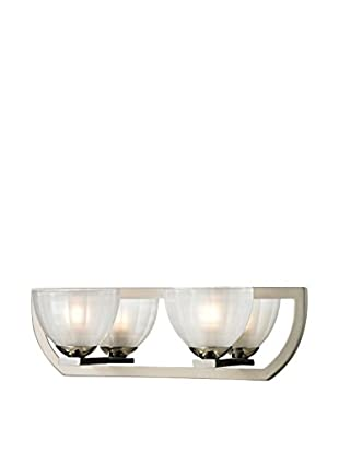Artistic Lighting Sculptive Collection 2-Light Bath Bar, Polished/Matte Nickel