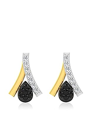 Diamant Vendome 0.07 Cts Diamond Earring In 9Kt Yellow Gold (Gh Color, Pk Clarity) Pxt9430Y/9/Ns/B&W Yellow Gold