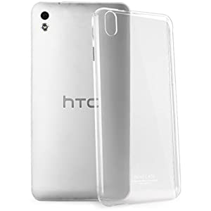 Heartly Imak Crystal Transparent Flip Thin Hard Bumper Back Case Cover For HTC Desire 816