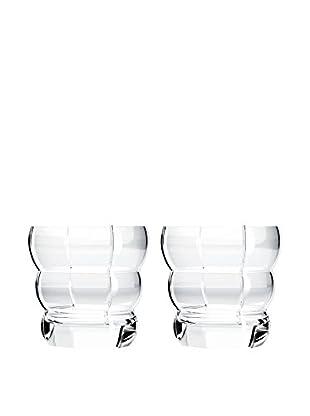 Rogaška Set of 2 Adria 10-Oz. Double Old Fashioned Glasses, Clear