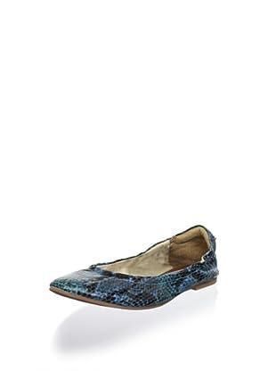 Matt Bernson Women's Waverly Ballet Flat (Blue Snake)