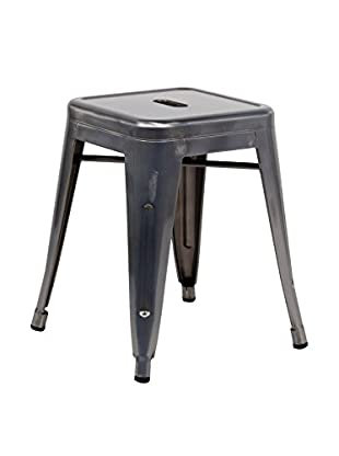 LO+DEMODA Hocker 2er Set Ural Metal Gris