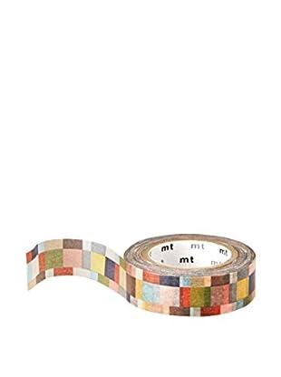 mt Masking Tape Colored Squares Decorative Tape, Multi, 32.8 ft.