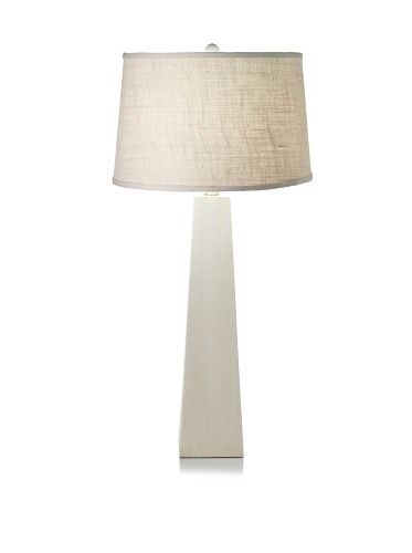 Lighting Accents Pyramid Table Lamp (White Wash)