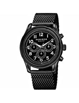 Akribos Xxiv Black Ip Stainless Steel Mens Watch Ak747Bk