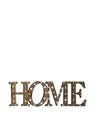 Wanddeko Home rot
