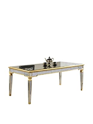 Florentine Dining Table, Gold Leaf/Antique Mirror