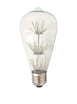 LO+DEMODA Glühbirne Edison Vintage All Star E27 LED St64 Cristal transparente
