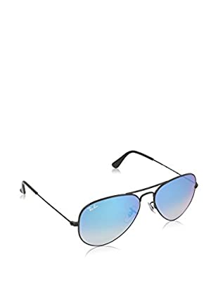 Ray-Ban Gafas de Sol 3025 _002/4O AVIATOR LARGE METAL (55 mm) Negro Brillo / Azul