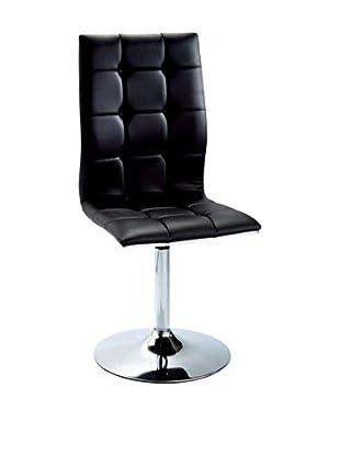 Modern Loft Stuhl 2er Set schwarz