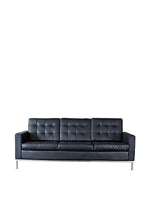 Baxton Studio Connoisseur Living Room Sofa, Black