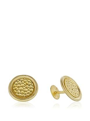 E-GOO Manschettenknopf Gemelos Colección Eleganza vergoldetes Silber 925