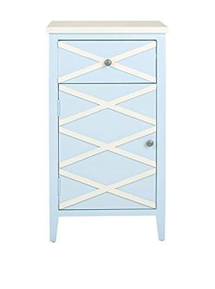 Safavieh Brandy Small Cabinet, Light Blue/White