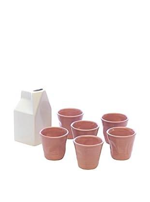 Kaleidos Espresso 7 tlg. Set weiß/rosa