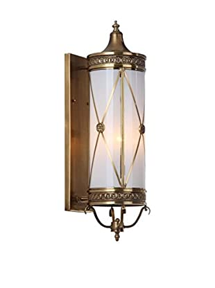 Safavieh Darby 3-Light Sconce, White/Brass