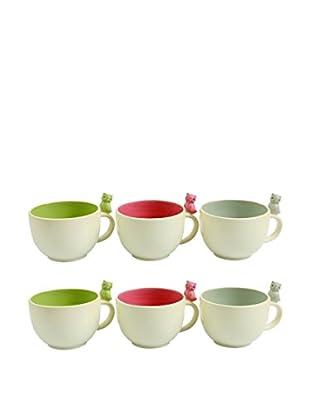 Colorful Table Set Taza De Desayuno 6 Uds. Owl Blanco/Multicolor
