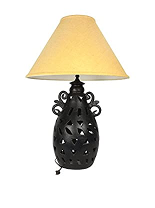 Uptown Down Previously Owned Perforated Ceramic Lamp