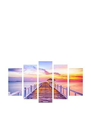 LO+DEMODA Leinwandbild 5 tlg. Set Pier