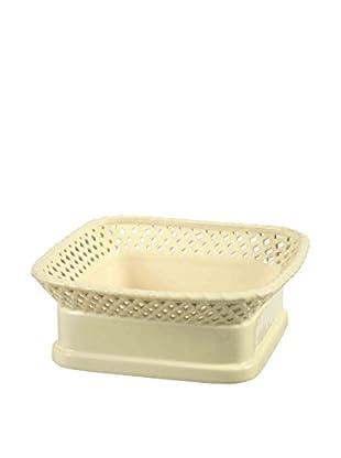 Winward Designs Stoneware Square Fruit Bowl, Cream