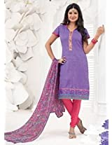 Saara Purple And Pink Embroidered Dress Material - 148D6006