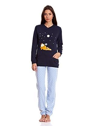 Gisela Pijama Camiseta Y Pantalón (Azul)