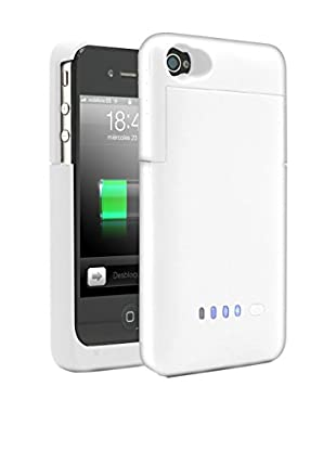 Unotec Bateria Funda Para Iphone4/4S Blanca