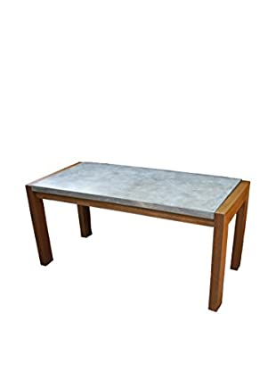 Outdoor Interiors Concrete & Eucalyptus Coffee Table, Brown