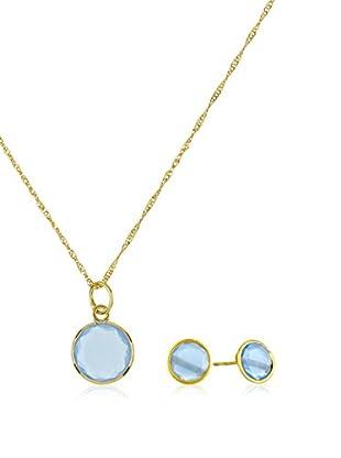 Silver Luxe Conjunto de cadena, colgante y pendientes plata de ley 925 milésimas bañada en oro