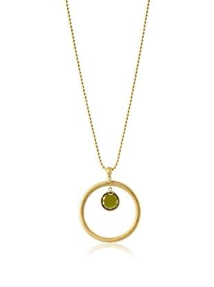 Jamie Young Large Green Zircon Halo Pendant, Gold
