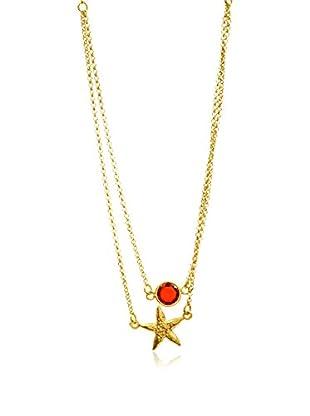 My Silver Gargantilla Estrella gran Rojo