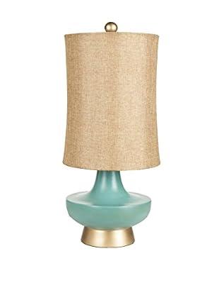 Surya Short 1-Light Table Lamp, Aged Turquoise
