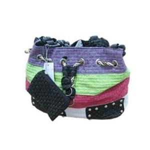 Ladies Multi Clour bag with divider 070 black