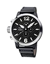 Haemmer Men's HC-19 Giants Stainless Steel Bezel Chrono Leather Watch