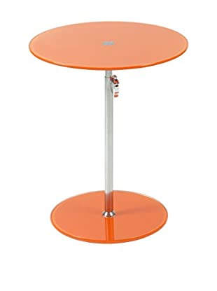 Eurostyle Radinka Round Glass Table, Orange