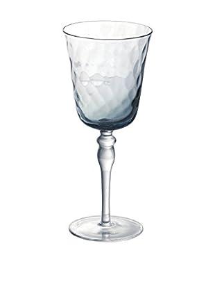 Easy Exotic Optic Wine Glasses, Blue, Set of 4
