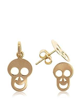 Gold & Diamonds Set Ohrringe und Anhänger  18 Karat (750) Gelbgold