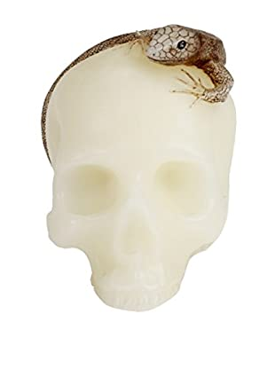 D.L. & Co. Crème Skull with Lizard Candle