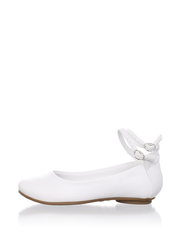 Pampili Kid's Double Ankle Strap Flat (White)